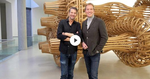 Der 3Sat Museums-Check im Sprengel Museum Hannover mit dem Moderator Markus Brock und dem Schauspieler und Fotografen Kai Wiesinger.